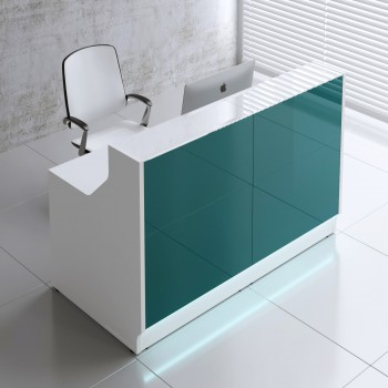 Linea LIN15 Reception Desk, Dark Turquoise