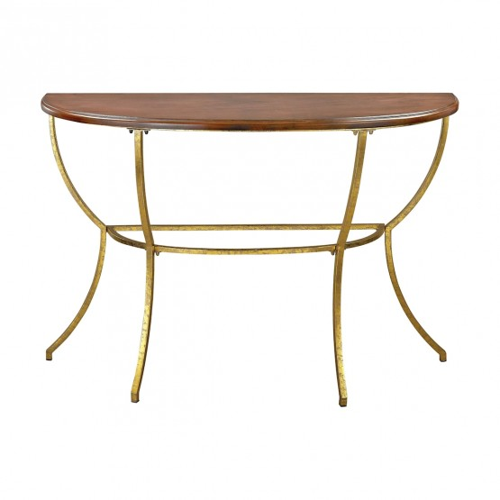 Balart Walnut And Gold Console photo