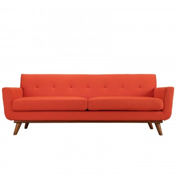 Engage Upholstered Sofa, Atomic Red by Modway