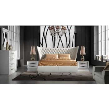 Carmen King Size Bedroom Set, Composition 2, White