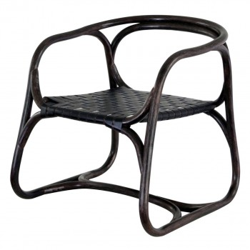 Cellini Rattan Chair, Black Russet by NPD (New Pacific Direct)