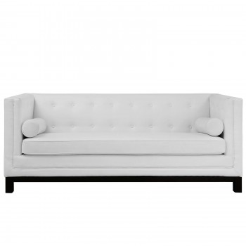 Imperial Sofa, White  by Modway
