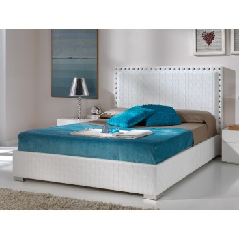649 Manhattan-Trenzado Euro Full Size Storage Bed, White