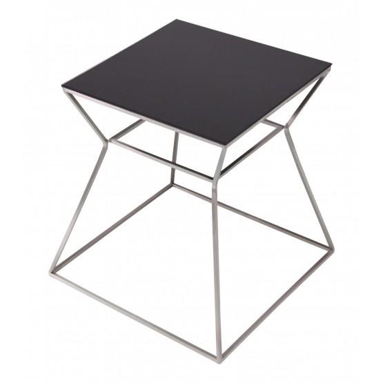Gakko End Table, Black Glass photo