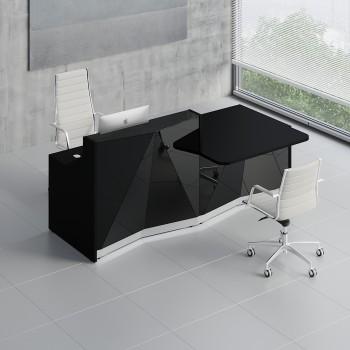 Alpa ALP21L Reception Desk, Black