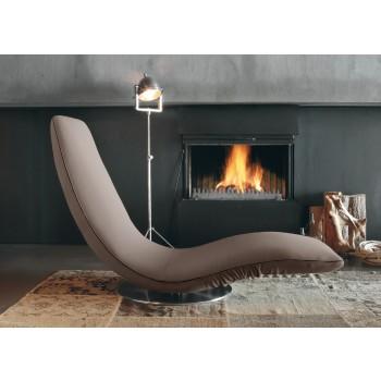 Ricciolo Chaise Lounge, Mud Orchidea Fabric