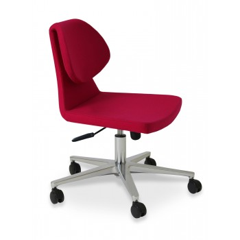 Gakko Office Chair, Base A1, Pink Wool by SohoConcept Furniture