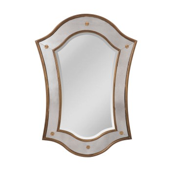 Cornell English Manor House Mirror In Mayan Gold