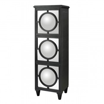 Mirage Mirrored Shelf Unit In Gloss Black