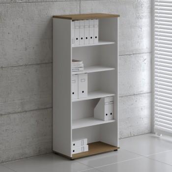 Basic K5504 Shelving Storage, White + Canadian Oak