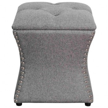Amelia Nailhead Ottoman, Cement by NPD (New Pacific Direct)
