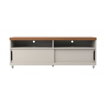 "Batavia 53.14"" TV Stand, Off White + Maple Cream"