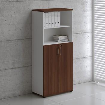 Basic K5304 2-Door Storage, White + Lowland Nut