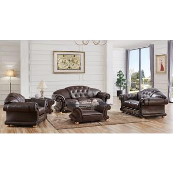 Apolo Living Room Set w/Sofa Bed, Brown