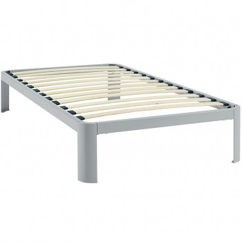 Corinne Twin Bed Frame, Gray by Modway