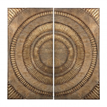 Abstract Metal Wall Panels - Set of 2