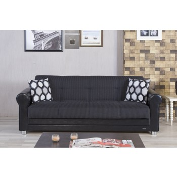 Avalon Sofa, Hometex Black by Casamode