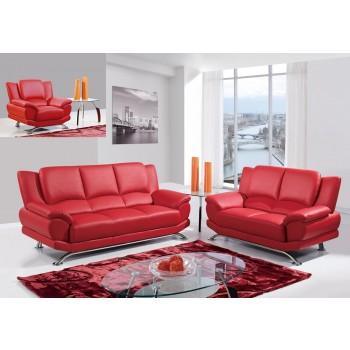 U9908 3-Piece Living Room Set, Red