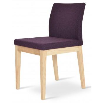 Aria Wood Dininng Chair, Natural Ash Wood, Deep Maroon Camira Wool by SohoConcept Furniture
