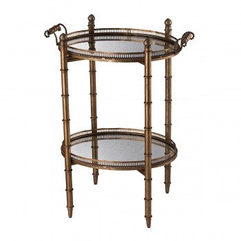Tyrella Gold Tray Table In Antique Gold
