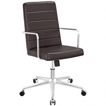 Cavalier Highback Office Chair, Brown by Modway