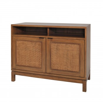 Branigan Rattan Panels Sideboard w/2 Doors, Natural