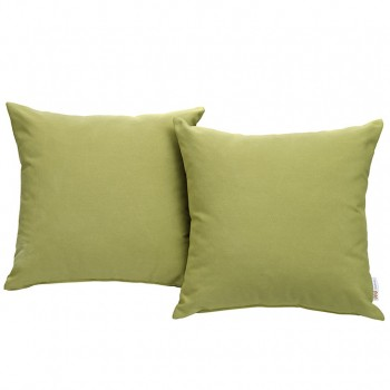 Convene Two Piece Outdoor Patio Pillow Set, Espresso, Peridot by Modway