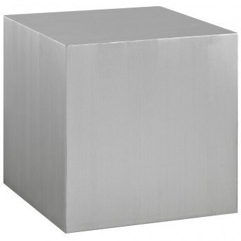 Cast Stainless Steel Side Table, Silver by Modway
