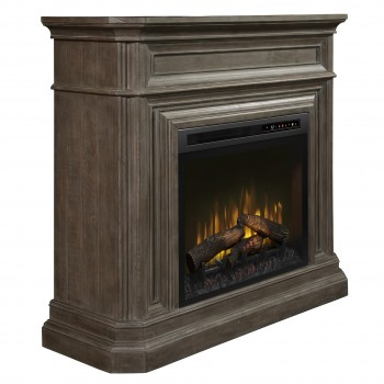 Ophelia Mantel Electric Fireplace, Biscotti Finish, Realogs (XHD28) Firebox
