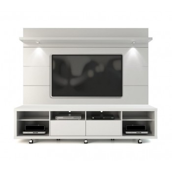 "Cabrini 85.8"" TV Stand & Panel, White Gloss"