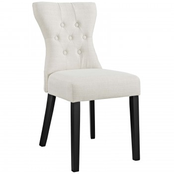 Silhouette Dining Side Chair, Beige by Modway