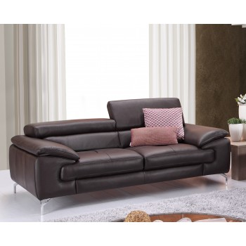 A973 Italian Leather Sofa, Coffee by J&M Furniture