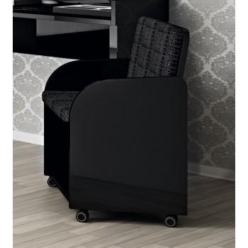 Volare Vanity Chair, Black