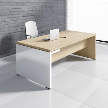 Mito Executive Desk MIT3, Light Sycamore + White High Gloss