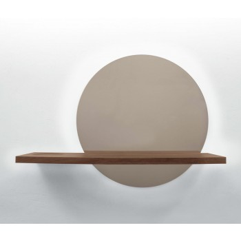 Sunset LED Bronzed Mirror with Touch Control, Canaletto Walnut