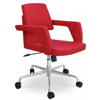 Adam Office Chair, Base A3, Red Camira Wool by SohoConcept Furniture