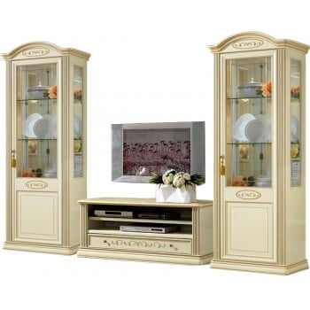 Siena 3-Piece Entertainment Set w/Mini TV Cabinet, Ivory