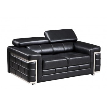 U7940 Loveseat, Black by Global Furniture USA