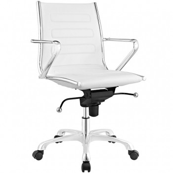 Ascend Mid Back Office Chair, White by Modway