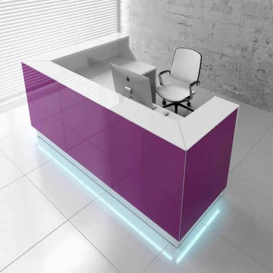 Linea LIN39P Reception Desk, Fuchsia photo