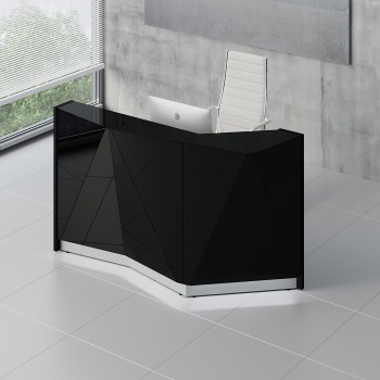 Alpa ALP04L Reception Desk, Black