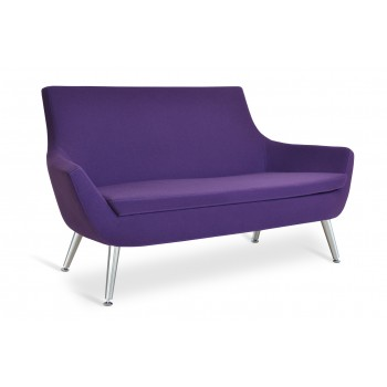 Rebecca Metal Two Seater, Collingwood Camira Wool by SohoConcept Furniture