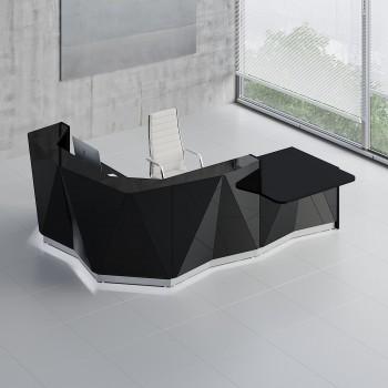 Alpa ALP23L Reception Desk, Black