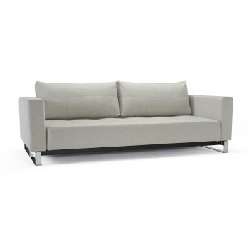 Cassius Deluxe Excess Queen Size Sofa Bed, 527 Mixed Dance Grey Fabric