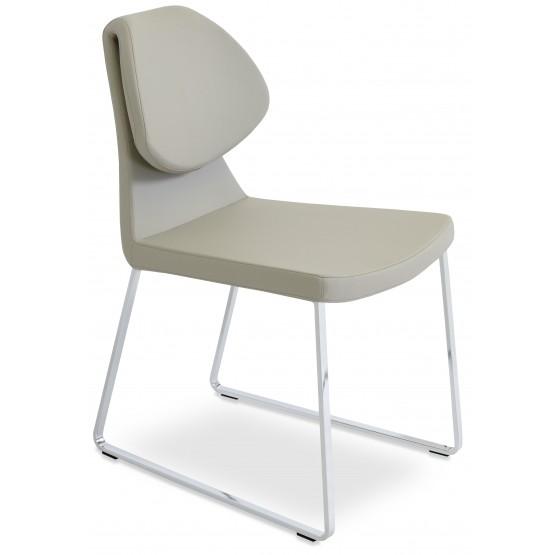 Gakko Sled Chair, Chrome, Bone PPM photo