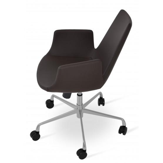 Eiffel Arm Office Chair, Base A3, Brown PPM photo