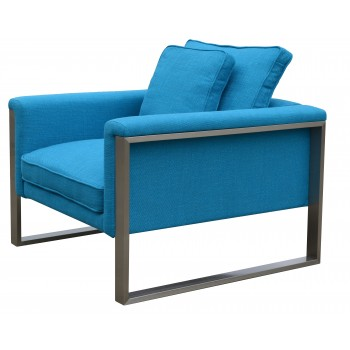 Boston Armchair, Turquoise Fabric by SohoConcept Furniture