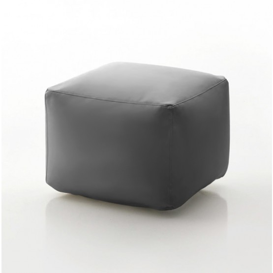 Truly Small Pouf, Ash Grey Eco-Leather photo