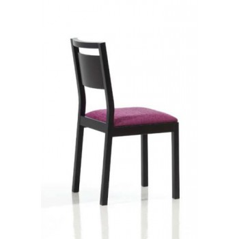 4450 Dining Chair, Black Base, Violet Upholstery