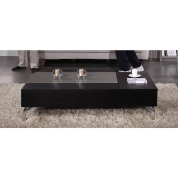 Tetris Coffee Table, Black Veneer + Gray Gloss